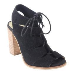 Women's Diba True Tren Dee Heels Black Suede