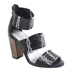 Women's Diba True True Sea Heels Black/Silver Leather