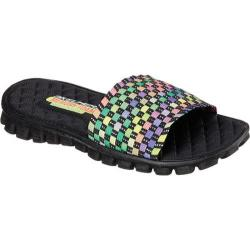 Women's Skechers EZ Flex Sand Piper Slide Black/Multi