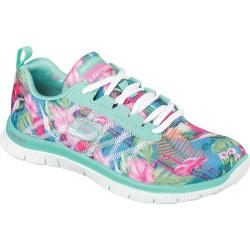 Women's Skechers Flex Appeal Floral Bloom Aqua/Multi