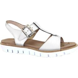 Women's Dromedaris Ana Sandal Ivory Soft Waxy Leather