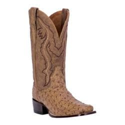 Men's Dan Post Boots Scottsdale 12in DP2316in Antique Saddle Leather/Full Quill Ostrich