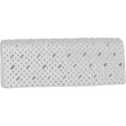 Women's J. Furmani 61054 Studded Flap Clutch Silver