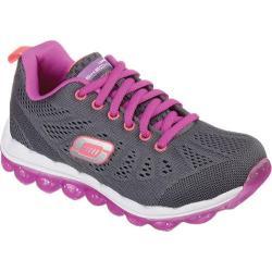 Girls' Skechers Skech-Air Inspire Charcoal/Purple
