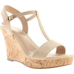Women's Charles by Charles David Libra Sandal Nude Kid Suede