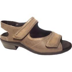 Women's Durea Crystal Sandal Taupe Leather