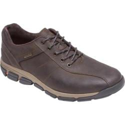 Men's Rockport RocSports Lite ES Waterproof Bike Toe Dark Brown Leather