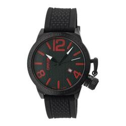 Men's Breed Falcon 5701 Black Silicone/Black/Red