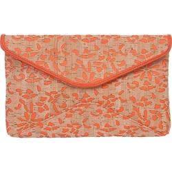 Women's BUCO Handbags Cork Clutch MS-13 Orange