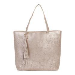 Women's BUCO Handbags Large Lace Tote KE-20804 Champagne