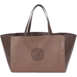 Women's BUCO Handbags Terry East/West Tote KE-20717 Cognac