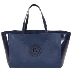 Women's BUCO Handbags Terry East/West Tote KE-20717 Navy