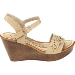 Women's Westbuitti Hawaiian-2 Wedge Sandal Nude