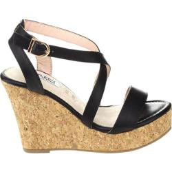 Women's Westbuitti Isleta-1 Cork Wedge Sandal Black