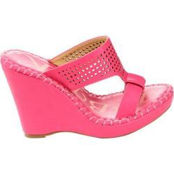 Women's Westbuitti Meira-2 Wedge Slide Sandal Fuchsia