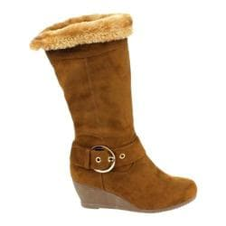 Women's Westbuitti Monicca-1 Fur Wedge Boot Camel