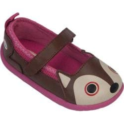 Girls' Zooligans Fox Maryjane Brown/Dark Pink