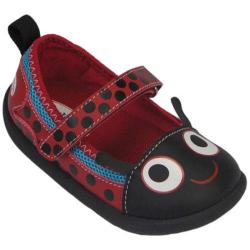 Girls' Zooligans Lady Bug Maryjane Black/Formula Red