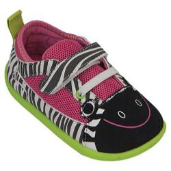 Girls' Zooligans Zebra Oxford Black and White Stripes/Pink