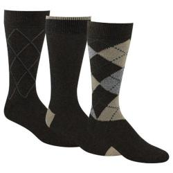 Men's Dockers Classics Metro Argyle Crew Socks (6 Pairs) Brown 15265658