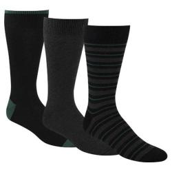Men's Dockers Classics Metro Sport Stripe Crew Socks (6 Pairs) Black