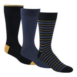 Men's Dockers Classics Metro Sport Stripe Crew Socks (6 Pairs) Navy