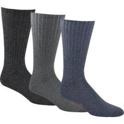 Men's Dockers Classics True Crew Socks (6 Pairs) Light Blue Assortment