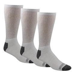 Men's Dockers Cushion Non Binding Basic Crew Sock (10 Pairs) White