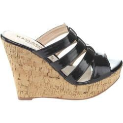 Women's Westbuitti Evie-2 Wedge Slide Sandal Black