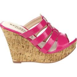 Women's Westbuitti Evie-2 Wedge Slide Sandal Fuchsia