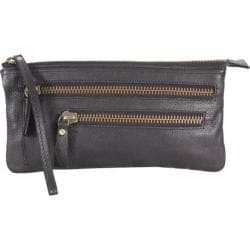 Women's Latico Campbell Clutch 8924 Pebble Black Leather