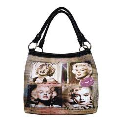 Women's Marilyn Forever Beautiful Memories Medium Tote MM2123 Black