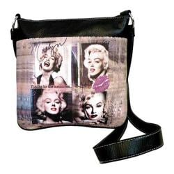 Women's Marilyn Forever Beautiful Memories Messenger MM2121 Black