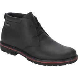 Men's Rockport Ledge Hill Waterproof Chukka Boot Black Full Grain Leather