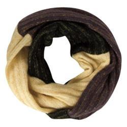 Women's San Diego Hat Company Striped Knit Tassel Scarf BSS1418 Black