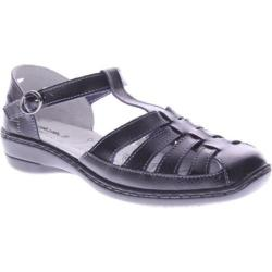 Women's Spring Step Indus Black Leather