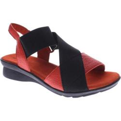 Women's Spring Step Selwyn Red Leather