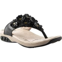 Women's Therafit Flora Sandal Black Leather