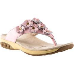 Women's Therafit Flora Sandal Pink Leather