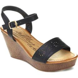 Women's Westbuitti Hawaiian-2 Wedge Sandal Black