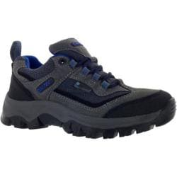 Children's Hi-Tec Hillside Low Waterproof Jr Charcoal/Blue/Black