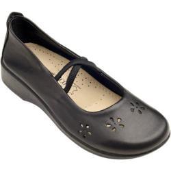 Women's Arcopedico Flower Black Leather