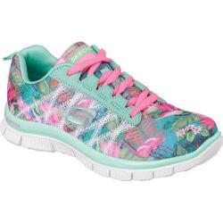 Girls' Skechers Skech Appeal Floral Bloom Sneaker Aqua/Multi