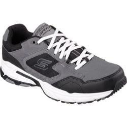 Men's Skechers Stamina Plus Trainer Charcoal/Black