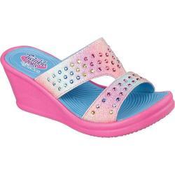 Girls' Skechers Twinkle Toes Rumblers Flawless Follies Sandal Hot Pink