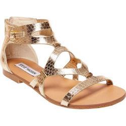 Women's Steve Madden Comly Sandal Gold Snake