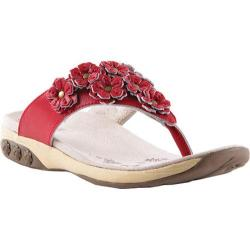 Women's Therafit Flora Sandal Red Leather