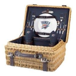 Picnic Time Champion Oklahoma City Thunder Print Natural Wood/Navy/Slate