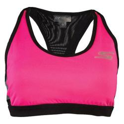 Women's Skechers Isolate Sports Bra Top Hot Pink