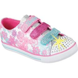 Girls' Skechers Twinkle Toes Chit Chat Glint and Gleam White/Multi
